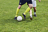 Two soccer players on field - STKF000660
