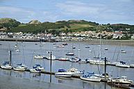 UK, Wales, Marina in the bay of Conwy - EL000610