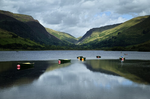 UK, Wales, Lake Tal-y-llyn in Snowdonia National Park - ELF000616