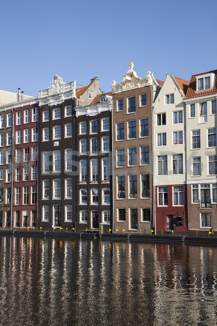 Netherlands, Amsterdam, Typical houses at town canal - WI000158