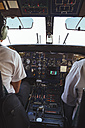 Two pilots in the cockpit of a Dornier 228 - MBE000852