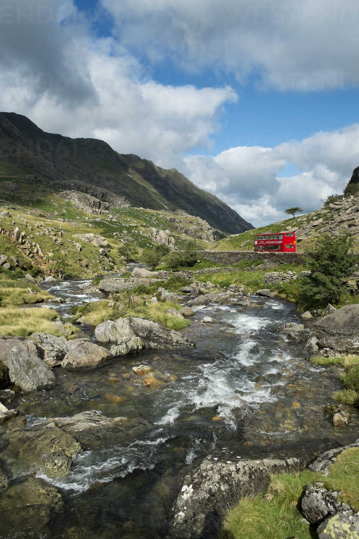 Great Britian, Wales, mountain stream at Llanberis Pass at Snowdonia National Park - EL000623 - Markus Keller/Westend61