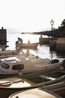 Croatia, Gradac, Fishing boats in harbour - MS003030