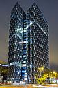 Germany, Hamburg, Modern skyscrapers Dancing Towers - NK000032