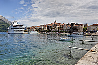 Croatia, Dalmatia, View of Korcula harbour - AM001285