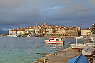 Croatia, Dalmatia, View of Korcula harbour - AMF001278