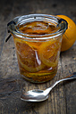 Glass of orange marmalade with orange slices - LVF000343