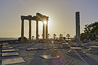 Turkey, Side, Temple of Apollo at sunset - SIE004699