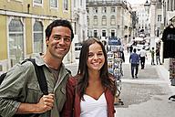 Portugal, Lisboa, Baixa, Rossio, portrait of young couple - BIF000036