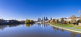 Germany, Hesse, Skyline of Frankfurt with River Main - AMF001364