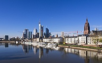 Germany, Hesse, Skyline of Frankfurt with River Main - AMF001368