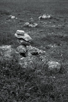 Stone figurines at meadow - AXF000560