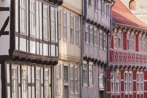 Germany, Saxony-Anhalt, Quedlinburg, Timber-framed houses - WDF002094