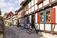 Germany, Saxony-Anhalt, Quedlinburg, Timber-framed houses - WD002052