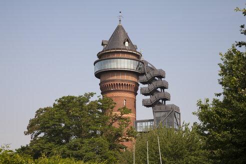 Germany, North Rhine-Westphalia, Muelheim, Styrum, water tower, Aquarius Water Museum - WIF000195