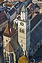 Germany, Baden-Wurttemberg, Uberlingen, Aerial view of St Nicholas' Minster - SH001048