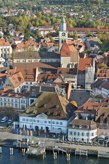 Germany, Baden-Wurttemberg, Uberlingen, Aerial view with St Nicholas' Minster - SH001052