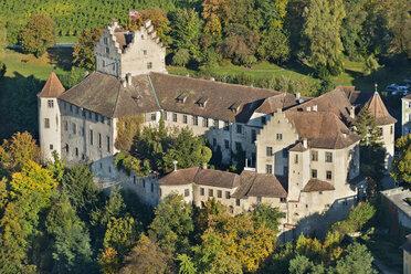 Germany, Baden-Wurttemberg, Meersburg, Meersburg Castle, aerial view - SH001081