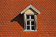Part of a roof with dormer and beaver tail tiles - WGF000100