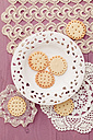 Butter cookies with peekaboo design on crochet tablecloth - ECF000385