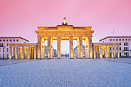 Germany, Berlin Brandenburg Gate in the evening - MSF003105