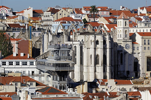 Portugal, Lisboa, view over Baixa and Chiado - BIF000088