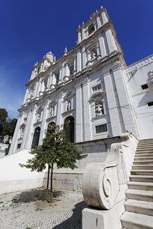 Portugal, Lisbon, Alfama, monastery of Sao Vicente de Fora, facade of conventual church - BIF000132