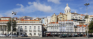 Portugal, Lisbon, Alfama, view to city with pantheon and military history museum - BIF000142