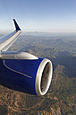 Turkey, Wing and jet engine of a plane above mountains - SIE004771