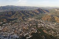 Turkey, Mugla, Ortaca, Greenhouses and Taurus Mountains, aerial photo - SIEF004768
