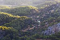 Turkey, Mugla, Vilage Goekbel, View from mountain Bozburun Tepesi - SIEF004763