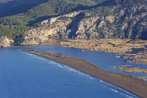 Turkey, Dalyan, Iztuzu beach with Dalyan Delta - SIEF004757