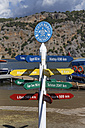 Turkey, Dalyan, Signpost on Iztuzu beach - SIEF004752