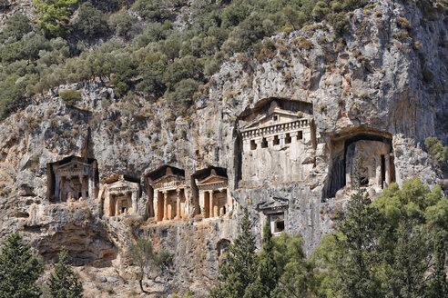 Turkey, Dalyan, Lycian Rock Tombs of Kaunos - SIE004744