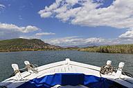 Turkey, Dalyan, Tourboat on Dalyan Delta - SIE004739