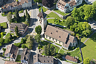 Switzerland, Arbon, Aerial view of St Martin's church - SH001146