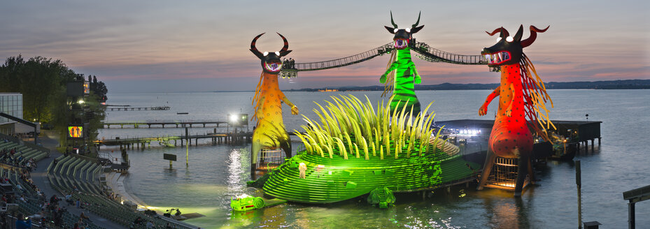 Austria, Bregenz, Stage for the Magic Flute at Bregenz Festival - SH001158