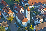 Germany, Baden-Wurttemberg, Fischbach, Aerial view of St Vitus Church - SH001161
