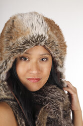 Asian with fur hood - DRF000312