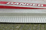 Warning at steps ta fairground ride - VI000035