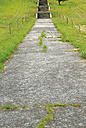 Germany, Brandenburg, Wustermark, Olympic village 1936, concreted pathway and stairs - VI000071