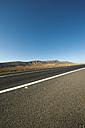 Spain, Fuerteventura, road in between volcanic landscape - VI000173