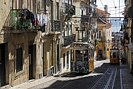 Portugal, Lisboa, Bica, two cable railways at street - BI000162