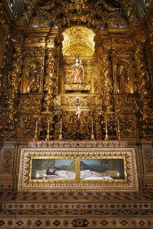 Portugal, Lisbon, Carmo, Igreja de Sao Roque, side chapel, Antependium Saint Roch - BI000176