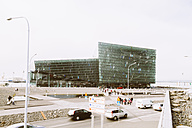 Iceland, Reykjavik, view to Harpa concert hall - MBE000951