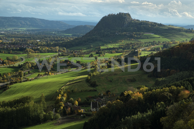 Germany, Baden Wuerttemberg, district Konstanz, Hegau with Hohentwiel - ELF000690