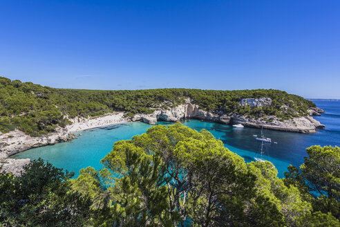 Spain, Balearic Islands, Menorca, Cala Mitjana - MAB000177