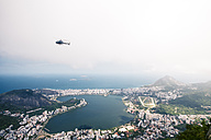 Brazil, Rio de Janeiro, Corcovado, View of the city with helicopter - AMC000013