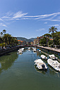Italy, Liguria, Rapallo, Canal with boats - AMF001427