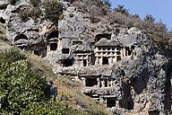 Turkey, Lycia, Ancient city Tlos, Lycian rock tombs - SIEF004887